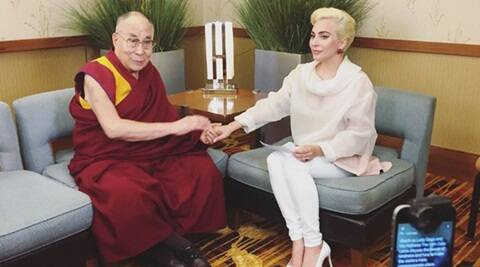 Lady Gaga, Lady Gaga dalai lama, dalai lama, Lady Gaga songs, Lady Gaga latest news, entertainment news