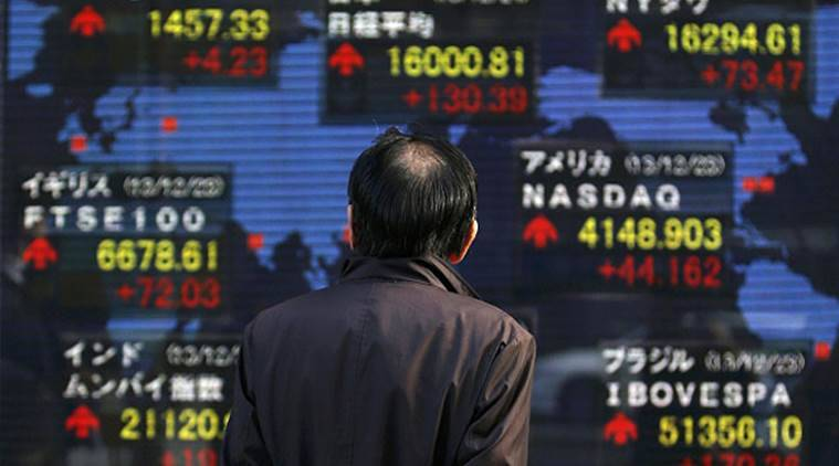 Nikkei, Nikkei Japan, Japan Nikkei, Nikkei fall, Japan Nikkei fall, Nikkei fall Japan, currency fall, Japan currency fall, Japan currency fall, Japan, Tokyo, business, Indian Express