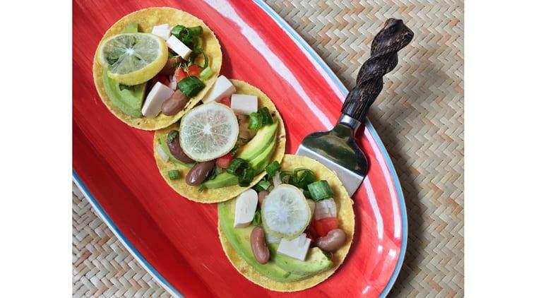 The Vegan Tofu Rancheros, served with avocado salsa, make for a fantastic main course. (Source: Pankaj Anand/Gujju Goes Gourmet)