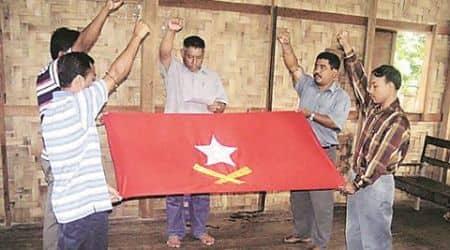 Manipur: In frame, inner line permit campaigner with militantflag