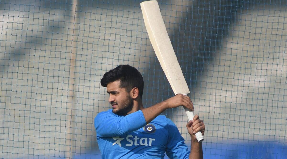 India's Manish Pandey during the net practice ahead of their Semi final match against West Indies at CCI,Churchgate on Tuesday. Express Photo by Kevin D'Souza. 29.03.2016. Mumbai.