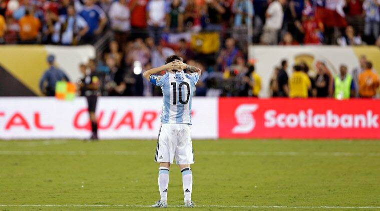 Lionel Messi took a shocking decision to retire from international football after defeat to Chile in Copa America finals. (Source: USA Today Sports)