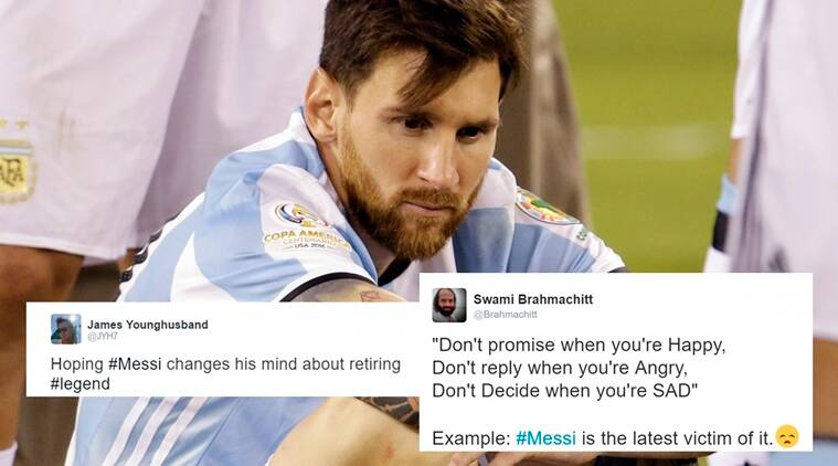 Messi announces retirement; Twitterati goes into shock and ...