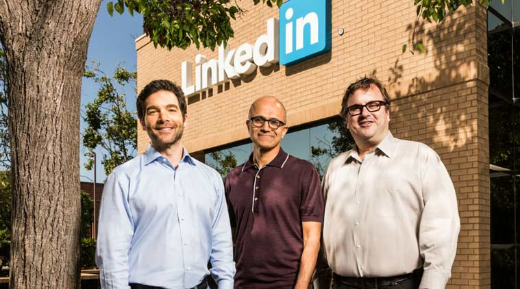 Microsoft, Microsoft linkedin deal, Linkedin, Microsoft buying linkedin, microsoft acquiring linkedin, Microsoft CEO, Satya Nadella, Jeff Weiner, social network, technology, technology news