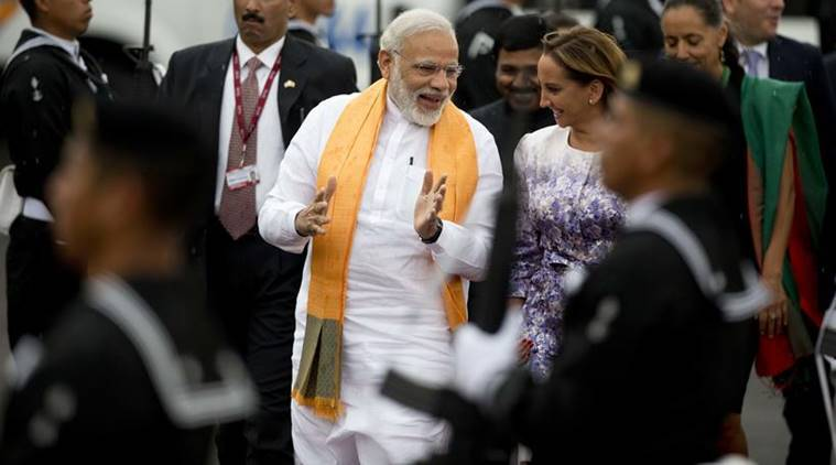 Narendra Modi, India, Modi, Mexico, PM Modi, Modi, Prime minister Narendra Modi, Modi in Mexico, Modi in US, US, Mexico president, Obama, US president, US president Barack Obama, Modi's five nation tour, Modi trip, Modi foreign trip, modi news, india news, latest news, indian express news