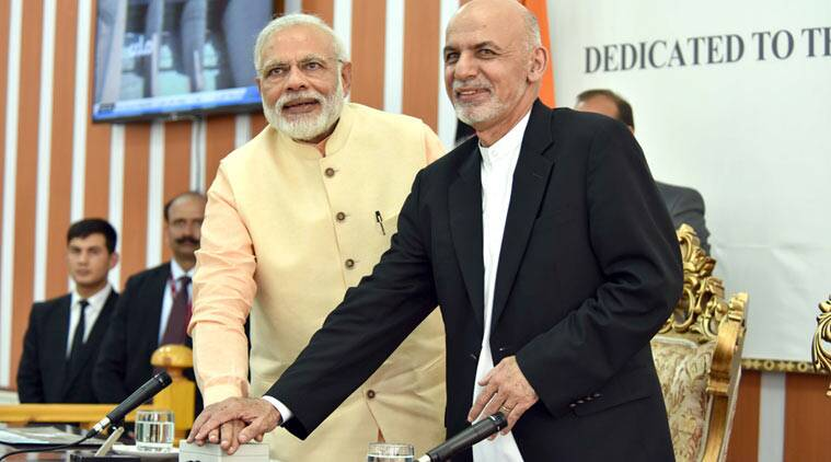 Narendra Modi and the President of the Islamic Republic of Afghanistan, Mr. Mohammad Ashraf Ghani jointly inaugurating the Afghan-India Friendship Dam (Salma Dam), in Heart, Afghanistan. (Source: PIB)