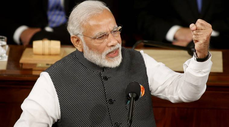 Prime Minister Narendra Modi addresses a joint meeting of Congress in the House Chamber on Capitol Hill in Washington, US. (Source: Reuters photo)
