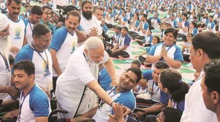 international yoga day, narendra modi, narendra modi international yoga day, yoga religious activity, health assurance yoga, international yoga day speech, narendra modi speech, chandigarh yoga day, india news