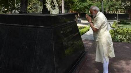 PM Modi pays tribute to Chandra Shekhar Azad in Allahabad
