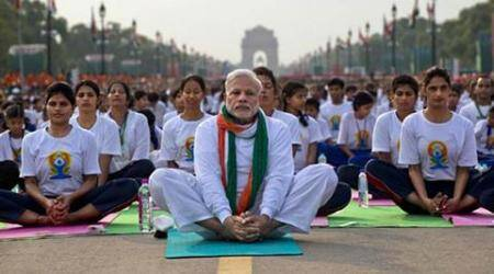 Narendra Modi, modi, yoga day, world yoga day, international yoga day, yoga day celebrations, bjp government, modi news, india news