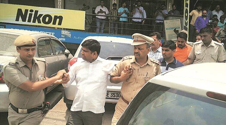AAP MLA Dinesh Mohaniya was arrested over molestation charges. (Source: Express)