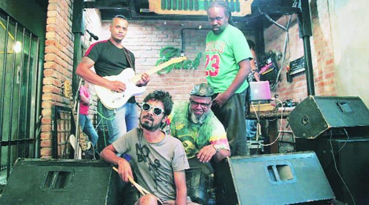 Members of Bombay Bassment in Chandigarh. Jasbir Malhi