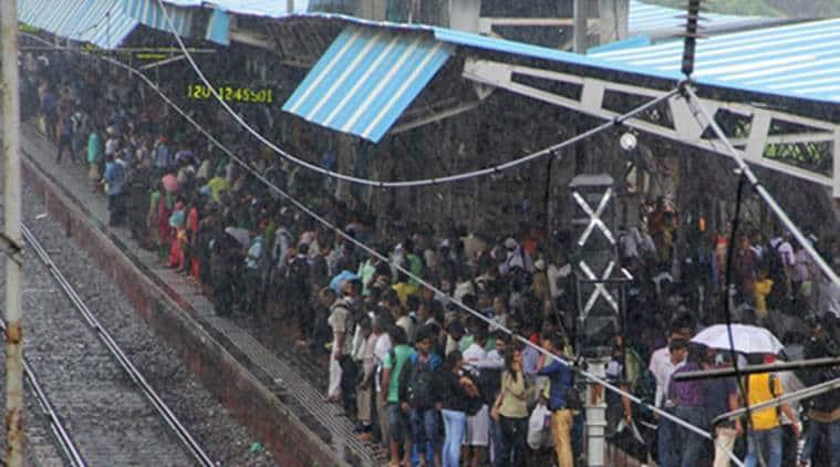 mumbai, mumbai rains, mumbai monsoon, mumbai local, local train, local train snag, mumbai waterlogging, mumbai rain news, mumbai news, india news