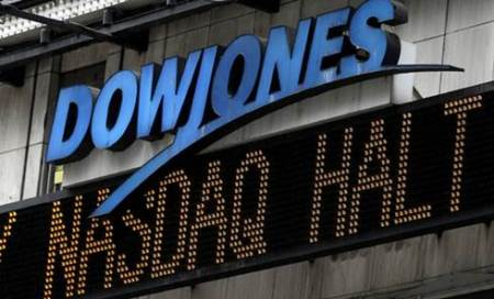 Dow finishes back above 18,000 as dollar dips