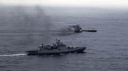 indian navy, INS Trikand, MV Infinity, MV Infinity one, MV Infinity one water ingress, indian coast guard, Karwar MV infinity, merchant navy, merchant navy ship water, india news, latest news,