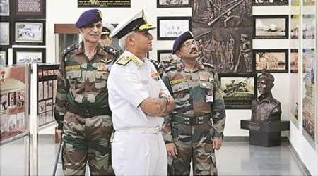 Admiral Sunil Lanba, Chandimandir, Western Command headquarters, Admiral Sunil Lanba Western Command headquarters, Chandigarh Air Force Station, AK Sanyal, Western Army, Chandimandir Western Army, Chandigarh news, national news, India news, latest news