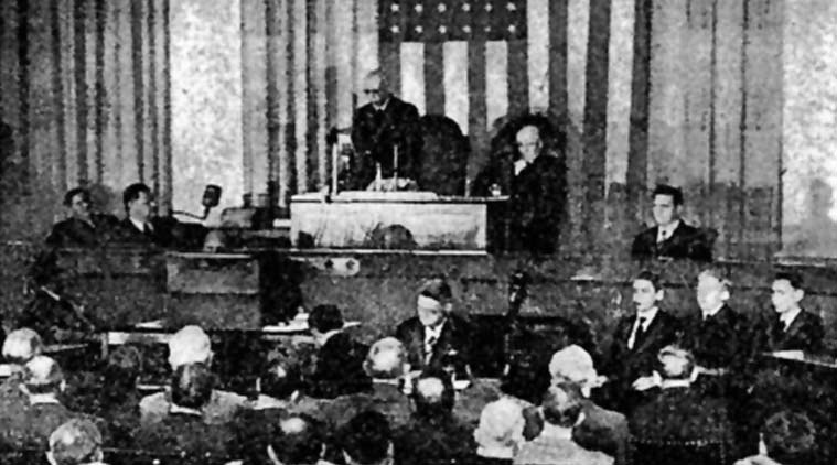 Picture of Nehru addressing the House of Representatives, published in The New York Times edition of October 14, 1949. (Source: The New York Times Archives)