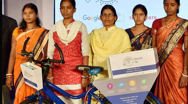 Google Internet Saathi project, Google Internet women's project, Google-Tata Internet saathi project, google tata india, tata google india