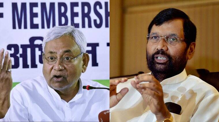 Nitish Kumar, Ram Vilas Paswan, Paswan Nitish, Nitish Kumar private sector quota, nitish kumar private sector reservation, reservation nitish kumar, reservation bihar, Bihar CM nitish kumar, nitish kumar prohibition, nitish kumar liquor, nitish kumar reservation, india news