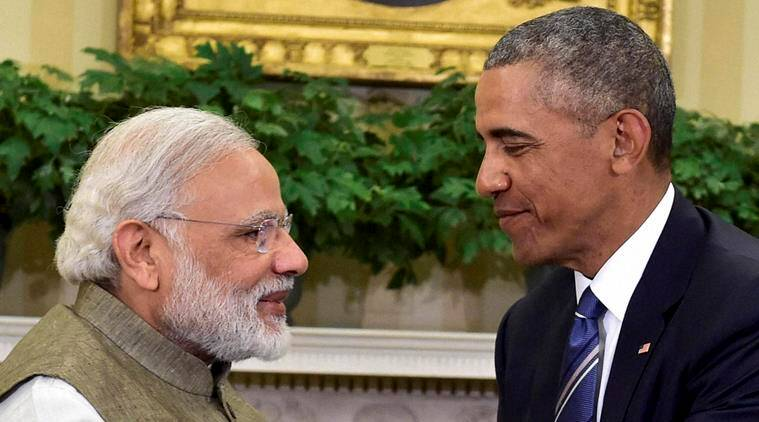 Washington: Prime Minister Narendra Modi and US President Barack Obama during a meeting in the Oval Office of the White House in Washington on Tuesday. PTI Photo by Kamal Kishore