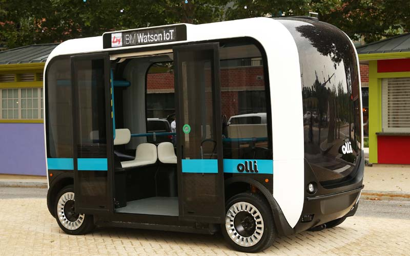 Olli, Olli 3D-printed car, Olli 3D car, Olli Watson powered car, IBM Watson, Watson powered car, Watson IBM Olli car, Local Motors 3D printed car, Local Motors car, technology, technology news