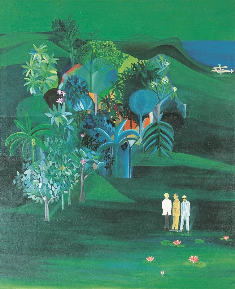 American Survey Officer, 1969 (Source: Victoria and Albert Museum/© The Estate of Bhupen Khakhar)