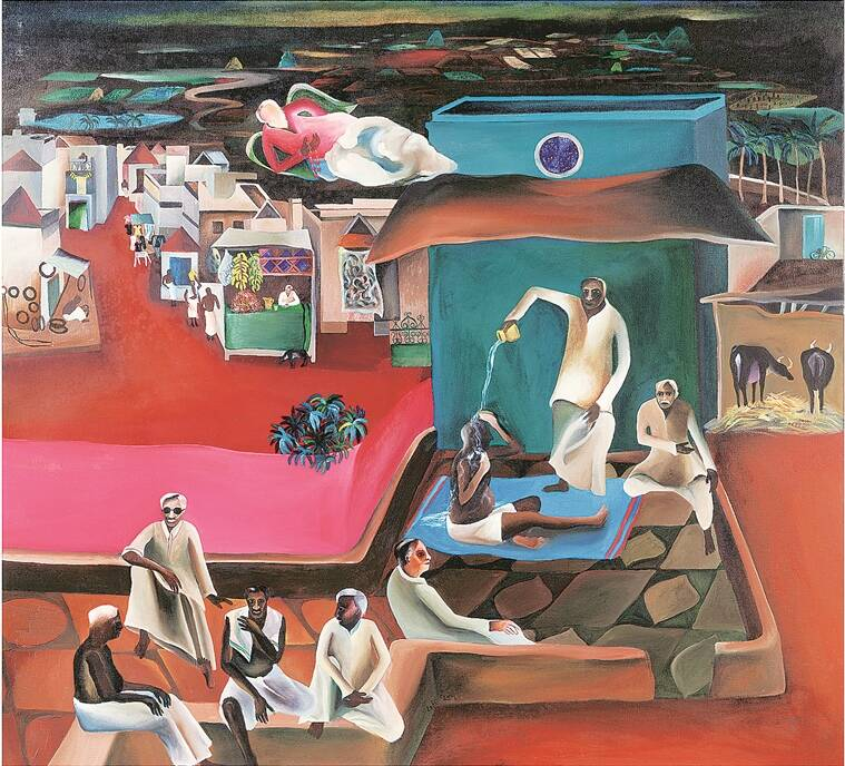Death in the family, 1977 (Source: Victoria and Albert Museum/© The Estate of Bhupen Khakhar)
