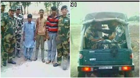 pakistan, india, pakistan children cross border, bsf, pak children returned, pak children border cross, india pak border, children indo pak border, accidental border cross, india news, pakistan news, latest news