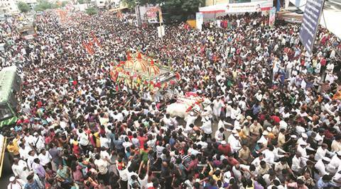 palkhi, pune palkhi, pune, pune news, pune water crisis, water problem, water problem in pune, pune traffic, sant dnyaneshwar maharaj palkhi, indian express news, pune water crisis, water problem, water problem in pune, pune traffic, sant dnyaneshwar maharaj palkhi, indian express news