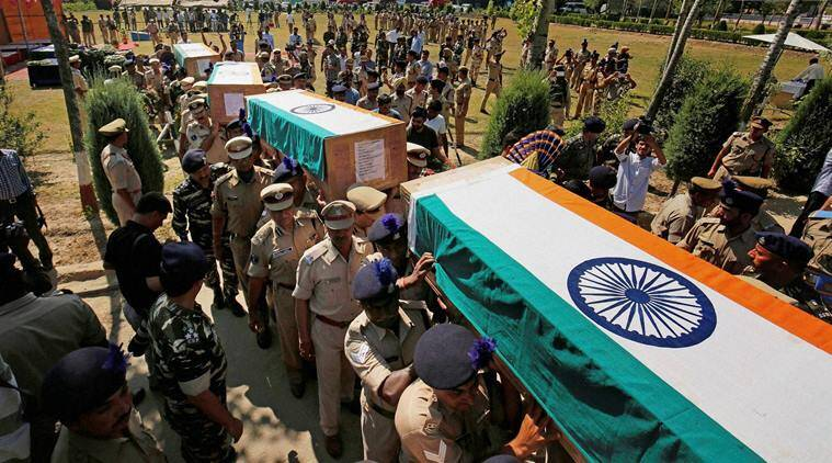 pampore, pampore attack, kashmir attack, CRPF, crpf killed, jawan killed, crpf pampore, pakistan attack pampore, pampore attack pakistan, pampore attack updates, crpf men died, terrorism, what happened in pampore, indian express news, india news