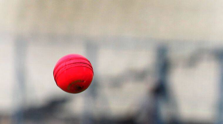 Dean Jones with pink ball at Eden Garden Kolkata on June 16,2016. Express photo by Partha Paul.