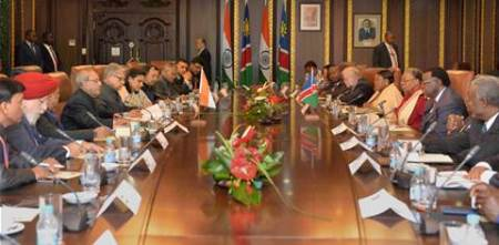Namibia, President Pranab Mukherjee, Namibian President Hage Geingob, Uranium Supply to India, peaceful use of nuclear energy, nuclear energy, India peaceful use of nuclear energy, Namibia Supply nuclear fuel, India News, latest news, nuclear fuel supply