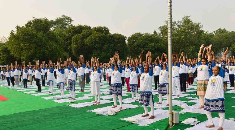 international yoga day, yoga day, k.k.shailaja, kerala health minister, yoga day in kerala, India news