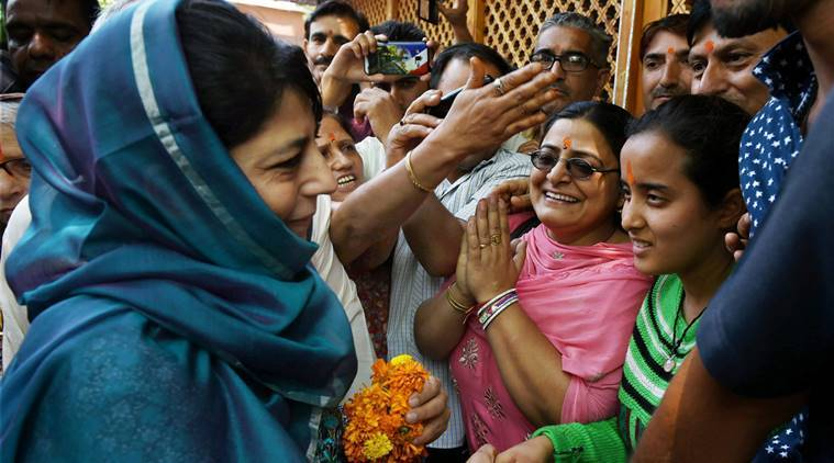 Jammu and Kashmir Chief Minister Mehbooba Mufti, insists that her party PDP is the only dependable party. (source: PTI)