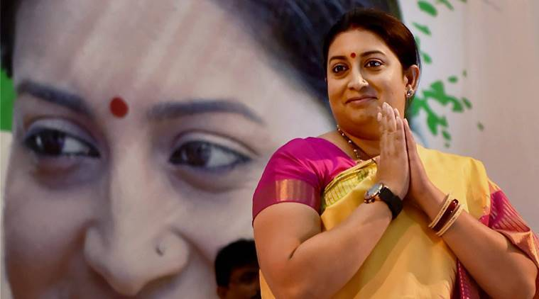 Smriti Irani, congress, cabinet reshuffle, narendra modi cabinet reshuffle, hrd, textile minister, saffronisation of education, indian express news, india news