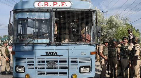 CRPF, CRPF ambush Kashmir, CRPF terror attack, Kashmir news, news, Pampore CRPF attack, India news, latest news, national news, CRPF Kashmir bus, K. Durga Prasad, CRPF attack bus, Jammu and Kashmir