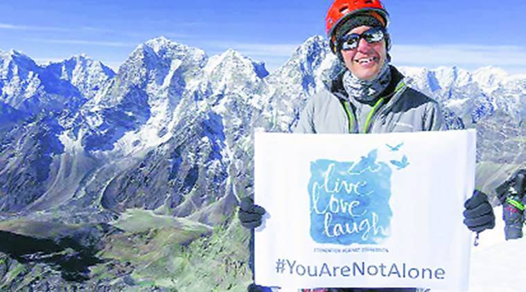 David Liano Gonzalez, Mount Everest, Live Love Laugh banner, Guinness World Record holder in Pune, Live Love Laugh Foundation, Maharashtra News, Latest news, India news