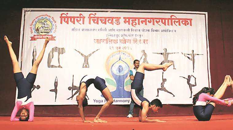 International Yoga Day, yoga day, pune yoga day, yoga day in pune, yoga day celebration, pune yoga sessions, pune institutes, pune news, indian express news