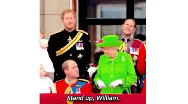 The Queen of Britain, Prince William, Prince George, Duke of Cambridge, Prince Harry, British Royal family, the Queen scolds Prince William, Queen scolding Prince William, Queen scolding Prince William clip, Queen scolding Prince William GIF, Twitter reactions to Queen scolding Prince William
