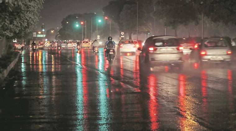 Rain, thunderstorm in Tricity bring temperatures down | Cities News,The Indian Express