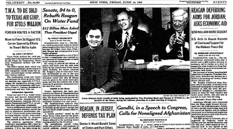 The front page of The New York Times edition of June 14, 1985. (Source: NYT Archive)