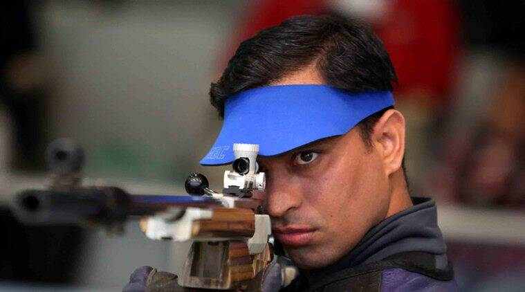 Rajput finished seventh in the qualification with a score of 1167. (Source: Express Photo)