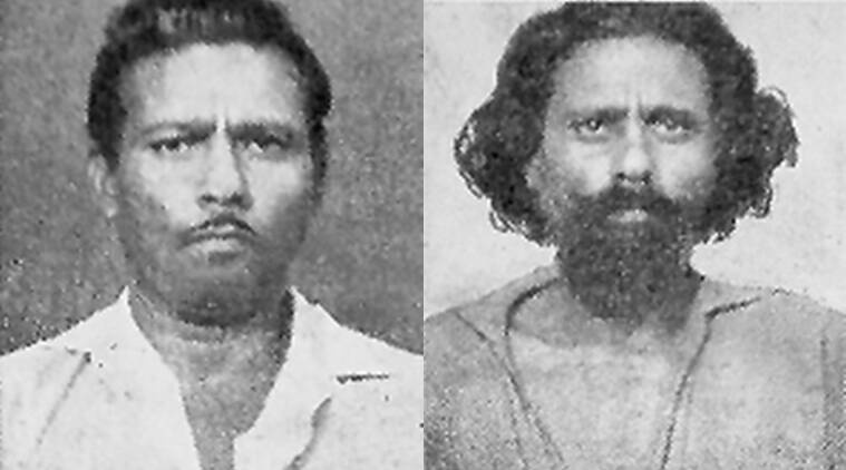 There will be blood: Raghav during the trial (left) and when he was caught.