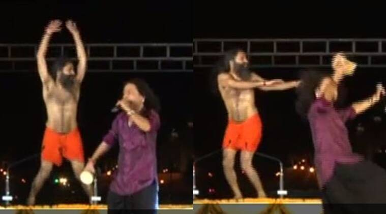 Baba Ramdev At a yoga camp on Rajpath/ Screenshot