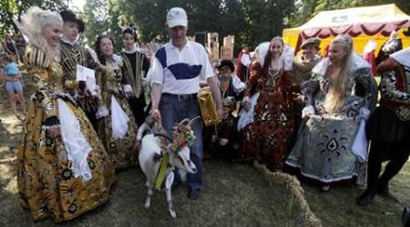goat pageant, lithuania goat pageant, lithuania news