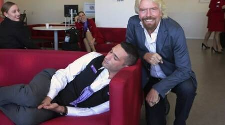 Richard Branson shares photo with employee napping atwork