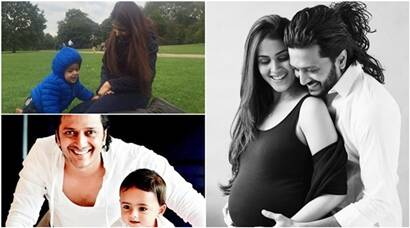 genelia dsouza, riteish deshmukh, riteish genelia, genelia dsouza baby pics, riteish deshmukh baby pics, genelia riteish baby pics, genelia photos, genelia riteish photos, genelia deshmukh, riteish latest news, genelia latest news, genelia pics with baby, riteish pics with baby, entertainment, bollywood