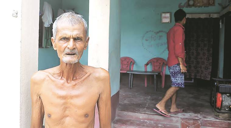 Munshi Prasad Rai, Grandfather of Arts Toper Rubi Rai. Rubi Rai didn't appeared in the special test of all toppers so her test rescheduled on 11 june. The family members said that she is unwell and in hopsital for treatment but othres said that she is in Jamshedpur to attend a marriage.Express Photo By Prashant Ravi