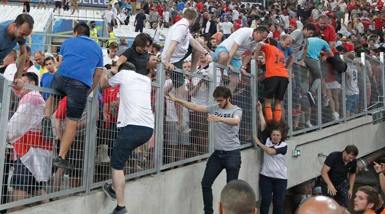 Russia's fans were also involved in violent clashes with England supporters. (Source: AP)