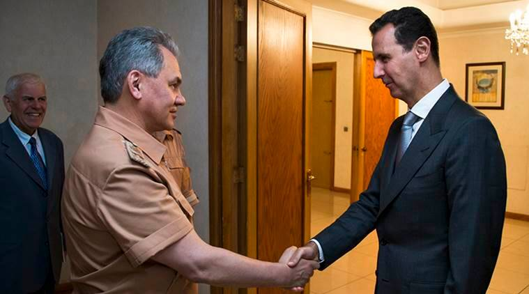 Russia and Syria, Russian defence minister in Syria, Russia defence Syria, Russian minister in Syria, Sergei Shoigu, Shoigu in Syria, Russian airstrikes in Syria, US Russia Syria, Russia Syria terrorists, terrorists in Syria, Russia Syria friendship, international news, latest news